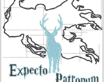 Harry Potter inspired dementor and patronus embroidery design 3 sizes