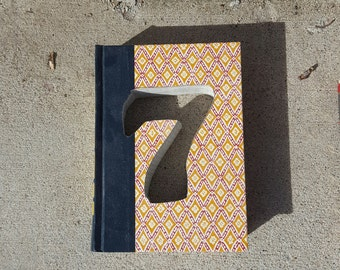 Upcycled Book Number Decor - 7 Seven