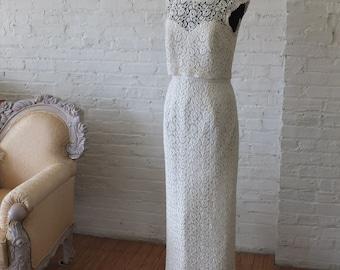 1960s Lace wedding dress super chic bridal gown