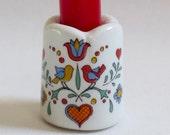 Vintage Porcelain Candle Holder Mini Candle Scandinavian Swedish Design Valentine's Day Heart Birds Flowers Funny Design Retro West Germany