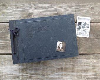 Vintage Black Photo Album / Art Deco Photo Album
