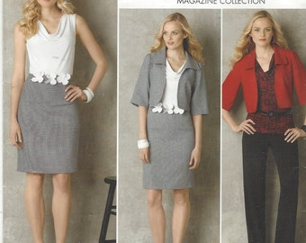 Plus Size Womens Jacket, Pants, Knit Top & Dress with Knit Bodice Simplicity Sewing Pattern 2345 Size 16 18 20 22 24 Bust 38 to 46 UnCut