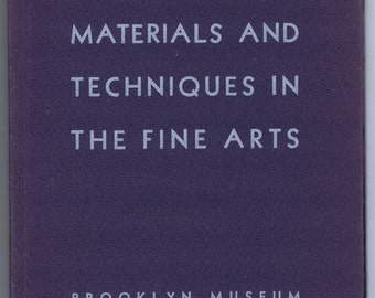 Antique Vintage Contemporary Materials Techniques Fine Arts Brooklyn Museum Book History Modern Art