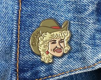 Dolly Parton Pin, Enamel Pin, Jewelry, Art, Artist, Gift (PIN72)