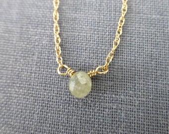 Diamond Necklace,Yellow Diamond,Diamond Jewelry, Diamond Solitaire,Wedding Necklace,Diamond Briolette, Yellow Diamond Drop, April Birthstone