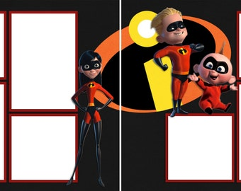 Incredibles - Digital Scrapbooking Quick Pages - INSTANT DOWNLOAD