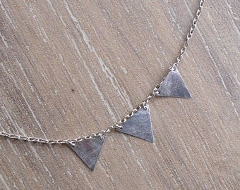 Bunting Flag Triangle Charm Bracelet (No. 1)