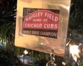 Chicago Cubs World Series Champions 2016 Wrigley Field Sign Ornament