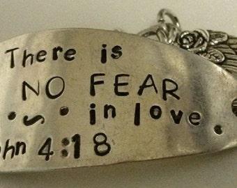 No Fear handmade silverware bracelet