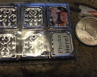 Photo charm beads, jewelry destash, supplies, charms,