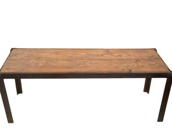 DISCOUNTED Reclaimed Industrial Bench Table