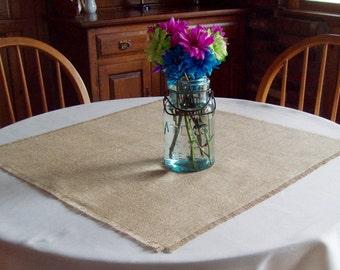 Rustic Burlap Table Squares, Set of 12, Wedding Table Decor, Burlap Table Overlays, Spring Wedding, Summer Wedding, Fall Country Wedding