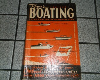 Royce's Trailer Boating Illustrated The Outboarding Bible Second Edition 1961 Boat Information Guide