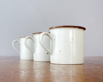 Three Vintage Dansk Brown Mist Cups / Mugs Neils Refsgaard
