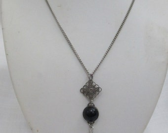 Mary Alice Upcycled Charm Necklace with Antique Genuine Silver Jewelry Components