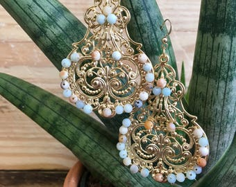 Amazonite Earrings Show stoppers
