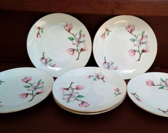 Vintage Homer Laughlin Dogwood Rhythm Bread and Butter Plate, Fine China, Plates
