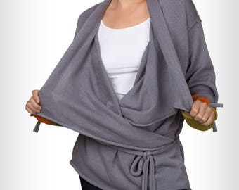 Grey Womens knitted cardigan by GalaGolansky