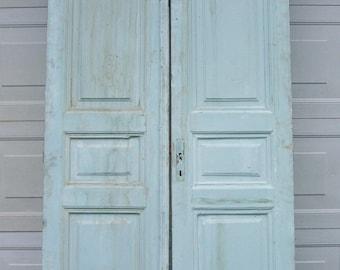 antique wood doors with raised doorsblue doorstwo panel