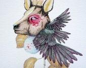 Botanica deer, limited and signed print