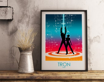 Tron Poster Art Print, Movie Poster, Wall Art, Minimalist Poster, Art Prints