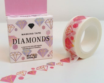 Colourful Diamond Washi Tape