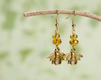 Sweet Honey Bee Earrings
