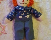 Handmade vintage Raggedy Andy doll,