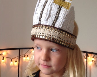 Native American Indian glittering headdress for Dress Up, Pretend Play, Birthday, Children kids, Christmas