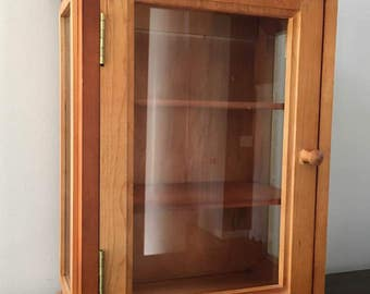 Wooden Curio /  Wall or Stand Cabinet / Display Cabinet/ Curio Cabinet