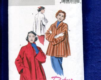 Butterick 4928 Swing Coat From the 50's Size L..XL UNCUT