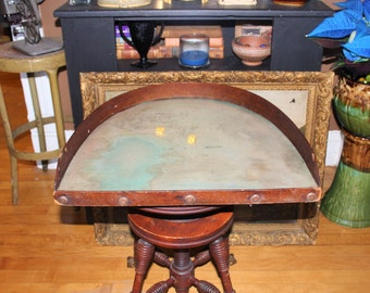 Antique Dice Gambling Table Old West Saloon
