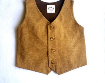 Baby Boy, Boys Tweed Vest, Ring Bearer, First Birthday Boy, Vest, Baby, Waistcoat, Boys Vest, Toddler Tweed Vest, Baby Vest, Photo Props