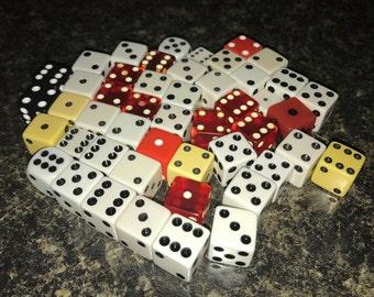 Dice lot 48 total game pieces DESTASH Some Vintage