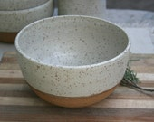 noodle bowl, large cereal bowl, rustic dinnerware, pasta bowl, minimal matte white, couple gift, wedding registry, speckled stoneware bowl
