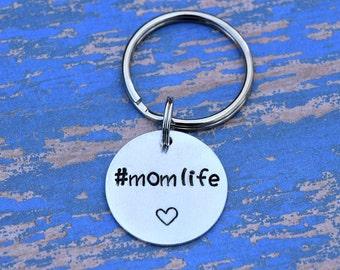Mom life #momlife keychain with heart.