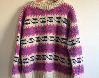 Ecuadorian 100% Wool Oversized Knit Sweater
