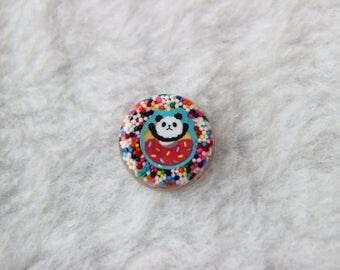 Candy Doughnut Panda Pin