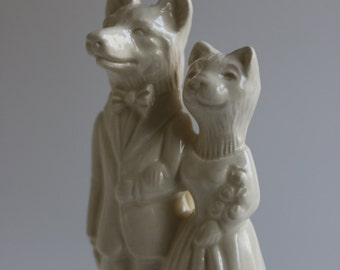 Wolf Weds Cat Wedding Cake Topper