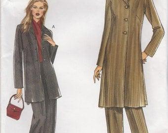 Long Jacket & Pants Pattern Vogue 7944 Sizes 10 12 14 16 Uncut