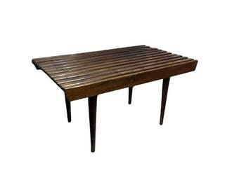 Vintage Slat Bench, Danish Modern Side Coffee Table Mid Century Modern