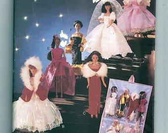 "11 1/2"" Fashion Doll Clothes & Organizer Original Butterick UnCut Sewing Pattern 5061"