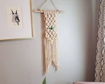 Small Macrame Wall Hanging/Tapestry/Fiber Art/Modern Macrame