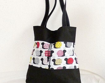 Spacious shopper for university, office, shoulder bag
