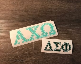 Greek Letters Vinyl Decal, Sorority, Fraternity, Yeti Decal, Laptop Decal, Cell Phone Sticker, car decal