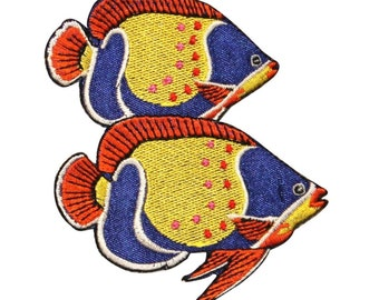 ID 0233 Tropical Beta Fish Patch Fighting Fishing Pet Iron On Applique