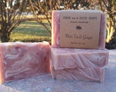 White Tea & Ginger, Natural Handmade Soap, Cold Process, Vegan