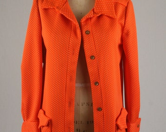 1960s Polyester Polka Dot Jacket.