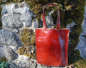 Oxblood Amsterdam Tote - Handmade leather Tote bag