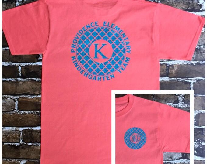 Monogrammed Teacher Tee Shirts, School spirit Tee shirts, Business T shirts, Nurses Tee Shirts, Monogram T Shirts